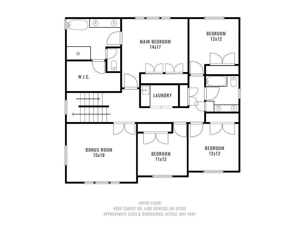 32 Upper Floorplan
